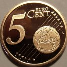 Cameo Proof Germany 2005-J Five Euro Cents~Hamburg Mint~Excellent~Free Shipping~