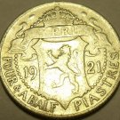 RARE 1921 CYPRUS SILVER 4 1/2 PIASTRES~1ST ONE~FREE SHI