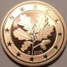 Cameo Proof Germany 2005-G One Euro Cent~Karlsruhe Mint~Excellent~Free Shipping~