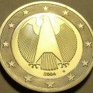 Cameo Proof Germany 2004-G One Euro~Karlsruhe Mint~Cameo~Bi-Metal~Free Shipping~