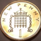 Proof Great Britain 1971 Penny~Very 1st Year Ever Minted~Free Shipping
