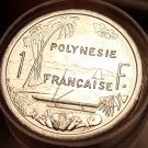 Gem Unc Roll (50 Coins) French Polynesia 2003 1 Franc~Free Shipping~
