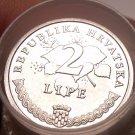 Gem Unc Roll (50 Coins) Croatia 2005 2 Lipe~Grape Vine~See R Unc Rolls~Free Ship
