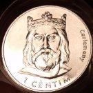 Gem Unc Roll (20 Coins) Large Andorra 2002 1 Centim Coins~Charlemagne~Free Ship~