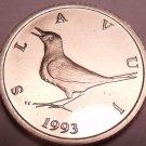Rare Proof Croatia 1993 1 Kuna~Nightingale~Only 17,000 Minted~Free Shipping