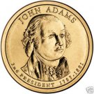 GEM BU JOHN ADAMS 2007-P PRESIDENTIAL DOLLAR~FREE SHIP~