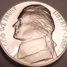 2002-S CAMEO PROOF JEFFERSON NICKEL~FREE SHIP~AWESOME~