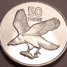 Gem Unc Botswana 1998 50 Thebe~African Eagle With Fish In Claws~Free Shipping