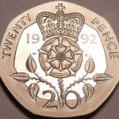 Proof Great Britain 1992 20 Pence~We Have UK Coins~Super Cameo~Free Shipping