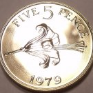 Rare Proof Guernsey 1979 5 Pence~Only 20,000 Minted~The Guernsey Lily~Free Ship