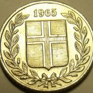 BRILLIANT UNC ICELAND 1965 25 AURAR~FREE SHIPPING~WE HAVE ICELAND COINS~