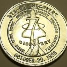 1998 UNC SPACE SHUTTLE DISCOVERY MISSION MEDALLION~GLENN FINAL FLIGHT~