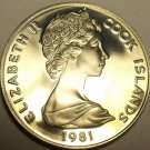 Proof Cook Islands 1981 5 Cents~Wedding Of Princess Diana And Charles~Free Ship