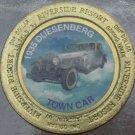 LARGE RIVERSIDE RESORT $1 GAMING TOKEN~1935 DUESENBERG TOWN CAR~FREE SHIPPING~