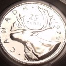Proof Canada 1979 25 Cents~Caribou~See All Our Canadian Coins~Free Shipping