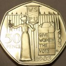 Proof Great Britain 2003 50 Pence~Womens Social & Political Union~Free Shipping