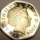 Cameo Proof Great Britain 2004 50 Pence~Check Out Our Proof Coins~Free Shipping