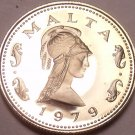 Rare Proof Malta 1979 2 Cents~Penthesilea~Queen Of The Amazons~Free Shipping