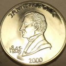 Huge Gem Unc Liberia 2000 $5~James Polk~United States President~Free Shipping