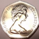 HUGE SCARCE PROOF GREAT BRITAIN 1978 50 PENCE~FREE SHIPPING~