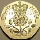 PROOF GREAT BRITAIN 1995 20 PENCE~SUPER CAMEO~FREE SHIP~PROOFS ARE BEST COINS~