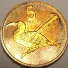 Rare Proof Botswana 1976 5 Thebe~Toko~1st Year Ever In Proof~26k Minted~Fr/Ship
