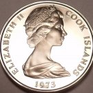 PROOF COOK ISLANDS 1973 5 CENTS~SEE OUR PROOFS~FREE SHI