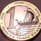 Rare Sweden 2003 Bi-Metal 1 Euro~Essai Trial Preuba Pattern Proof~17K Minted~F/S