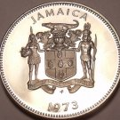 LARGE JAMAICA PROOF 1973 20 CENTS~28K MINTED~FREE SHIP~
