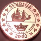 Rare Sweden 2003 2 Euro Cents~Essai Trial Preuba Pattern Proof~17,000 Minted~F/S
