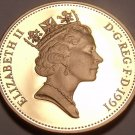 Extremely Rare Great Britain 1991 2 Pence~Only 10,000 Ever Made~Excellent~Fr/Shi