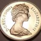 Large Cameo Proof Great Britain 1984 10 New Pence~107,000 Minted~Lion~Free Ship