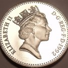 Cameo Proof Great Britain 1992 10 New Pence~Large Type~Free Shipping