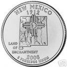 2008-D NEW MEXICO BRILLIANT UNC STATE QUARTER~FREE SHIP