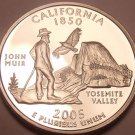INCREDIBLE PROOF 2005-S CALIFORNIA STATE QUARTER~FR/SHI