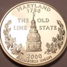 Gem Cameo Proof 2000-S Maryland State Quarter~Free Shipping~Excellent Coin~