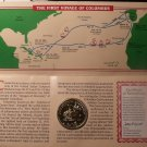 Christopher Columbus 500 Year Commemorative Map & Medallion Set~W/COA~Free Ship