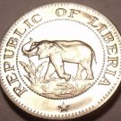 Rare Proof Liberia 1968 5 Cents~Only 14,000 Minted~Elephant Coin~Free Ship