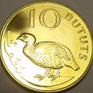 Proof Gambia 1971 10 Bututs~1st Year~Double-Spurred Francolin~32K Minted~Free Sh