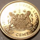 Rare Proof Sierra Leone 1980 Half Cent~Only 10K Minted~Free Shipping