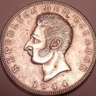 Huge Au/Unc Silver Ecuador 1944 5 Sucres~Minted In Mexico City~Free Shipping