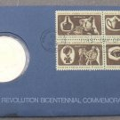 1972 BICENTENNIAL FIRST DAY COVER MEDALLION~REVOLUTION~GEORGE WASHINGTON~FR/SHIP