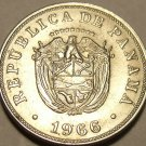 Unc Panama 1966 5 Cestesimos~We Have Panama Coins~Free Shipping~