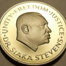 Rare Proof Sierra Leone 1980 10 Cents~Only 10K Minted~Dr Siaka Stevens~Free Ship
