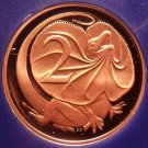 Rare Cameo Proof Australia 1979 Proof 2 Cents~Only 36,000 Minted~Lizard~Free Shi