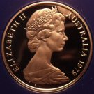Rare Cameo Proof Australia 1979 Proof 10 Cents~Only 36,000 Minted~ Lyrebird~Fr/S