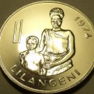 Huge Rare Proof Swaziland 1974 Lilangeni~Female & Child~13K Minted~Free Ship~