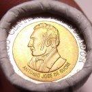 Gem Unc Original Roll (20) Ecuador 1997 Bi-Metal 100 Sucre Coins~Anniversary~F/S