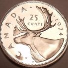 Canada 1974 Proof 25 Cents~Caribou~Read Why Proofs Are The Best Coins~Free Ship