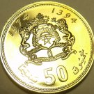 RARE PROOF MOROCCO 1974 50 SANTIMAT~20,000 MINTED~ONLY YEAR EVER~FREE SHIP~